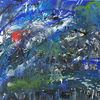 Blau, Rot schwarz, Malerei, Grün