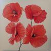 Mohnblumen rot, Blumen, Natur, Malerei