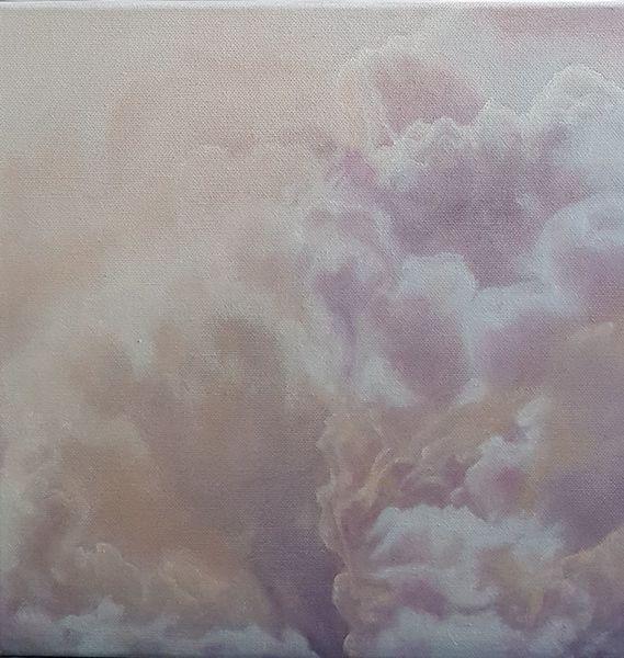 Himmel, Rosa, Lila, Wolken, Malerei, Natur