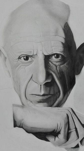 Picasso, Mann, Zeichnung, Schwarz, Portrait, Zeichnungen