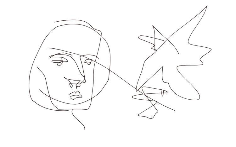 Gesicht, Linie, Menschen, Digitale kunst