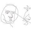 Linie, Menschen, Gesicht, Digitale kunst