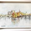Brücke, Fluss, Paris, Malerei