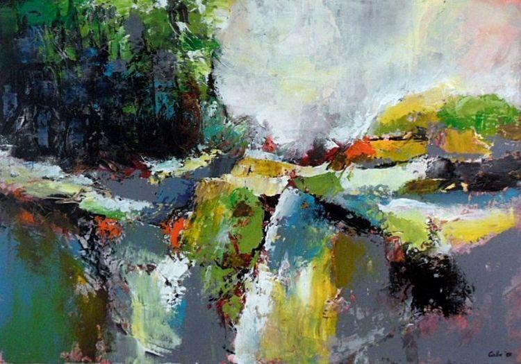 Gemälde abstrakt, Abstrakte malerei, Abstrakte kunst, Acrylmalerei, Moderne malerei, Landschaft