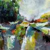 Moderne malerei, Landschaft, Zeitgenössische malerei, Abstrakte kunst