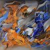 Abstrakte malerei, Moderne malerei, Abstrakte kunst, Blau