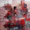 Gemälde abstrakt, Abstrakte malerei, Rot, Zeitgenössische kunst