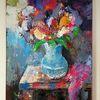 Zeitgenössische kunst, Acrylmalerei, Struktur, Zeitgenössische malerei