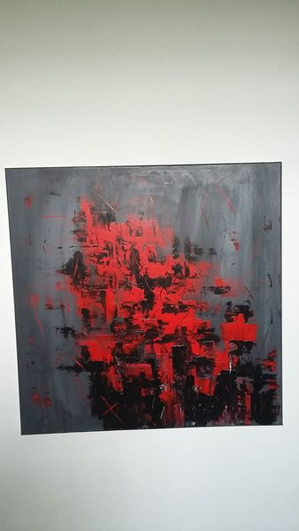 Rot schwarz, Malerei, Abstrakt