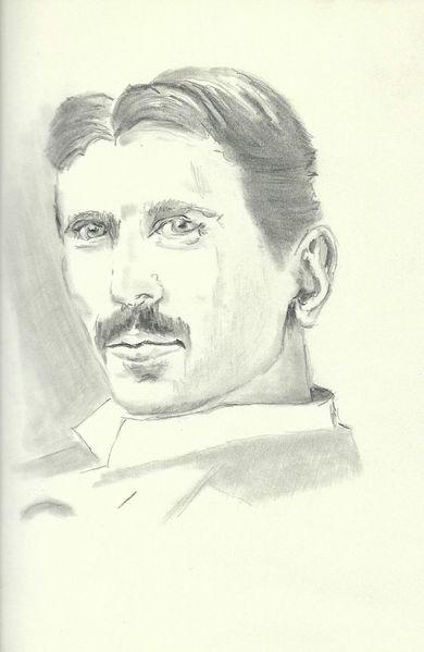 Zeichnung, Skizze, Tesla, Gesicht, Zeichnungen