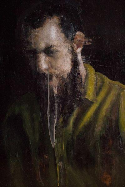 Figurativ, Kupfer, Realismus, Mann, Ölmalerei, Portrait