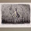 Fantasie, Mann, Tinte, Zeichnung