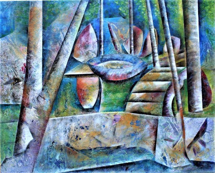 Fantasie, Baum, Bunt, Malerei