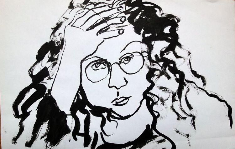 Menschen, Figurativ, Skizze, Weiß, Schwarz weiß, Chinatusche