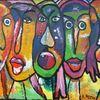 Menschen, Ausdruck, Malerei, Show