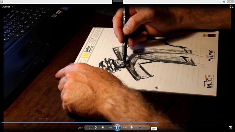 Portrait, Blasphemie, Zeichnung, Zeichnen, Jesus, Bleistiftzeichnung