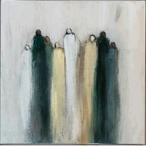 Figur, Acrylmalerei, Abstrakt, Malerei