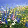 Wandbild, Blumen, Kunstverkauf, Sommerblumen