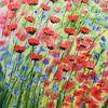 Blumengarten, Blumen, Mohnblumen, Gemälde