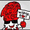 Rot, Gehirn, Politik, Digitale kunst