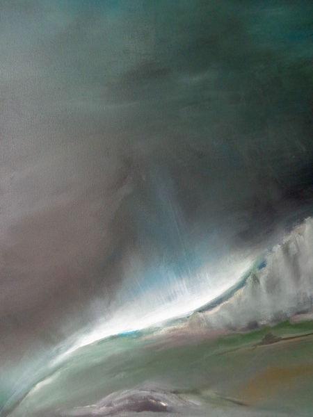 Berge, Natur, Malerei, Wolken, Acrylmalerei, Abstrakte landschaft