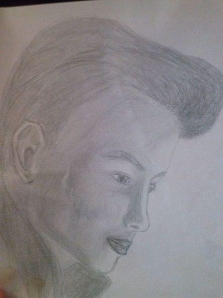 Portrait, Natur, Licht, Zeichnung, Zeichnungen
