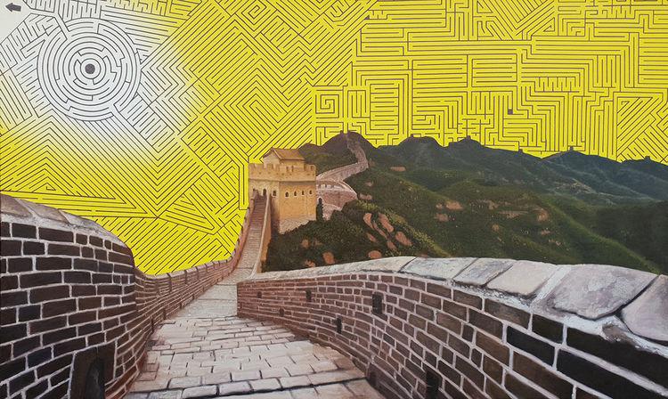 Ölmalerei, Kunstprojekt, Malerei, Surreal, Mauer, Modern art