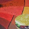 Burger, Acrylmalerei, Surreal, Malerei