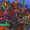 Stadt, Malerei, Zeitgenössisch, Moderne kunst