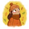 Herbst, Mädchen, Krita, Wild