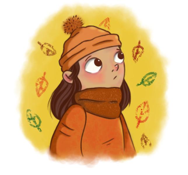 Wild, Herbst, Mädchen, Krita, Digitale kunst