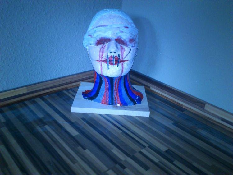 Kopf, Clown, Blut, Kunsthandwerk, Blind