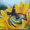 Leuchtende farben, Gelb, Moderne kunst, Sonnenblumen