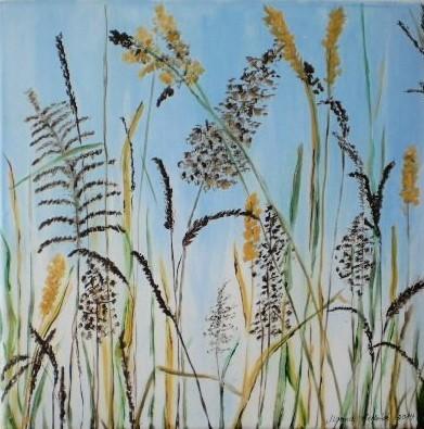 Gras, Pflanzen, Natur, Malerei