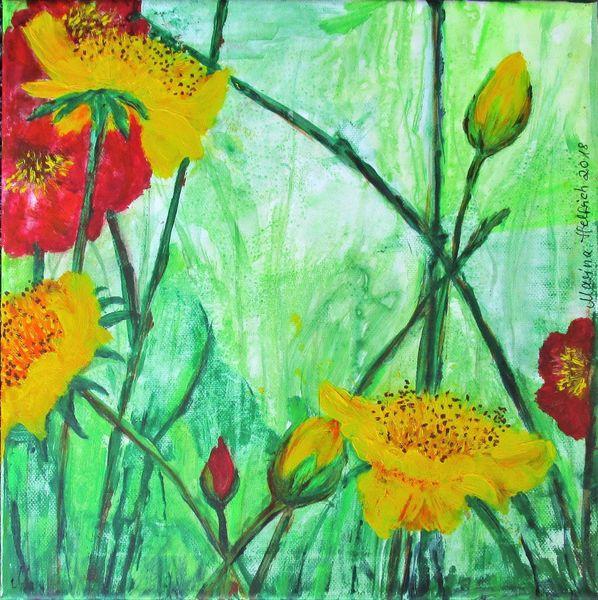 Nelkenwurz, Pflanzen, Blumen, Natur, Malerei