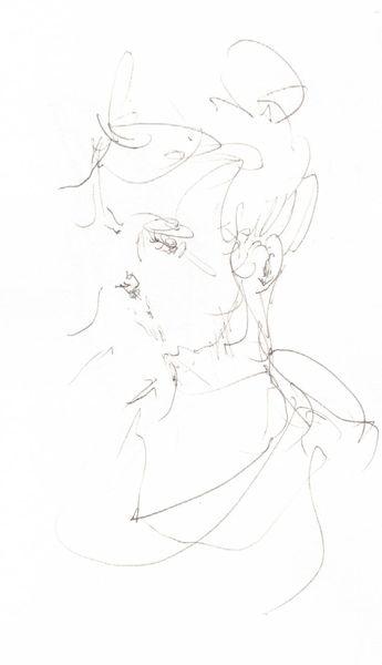 Bleistiftzeichnung, Jung, Frau, Schnell, Zeichnungen, Junge