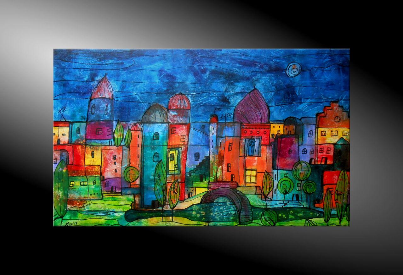 Bild moderne malerei abstrakte malerei moderne kunst for Acrylbilder ideen