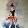 Malerei, Ölmalerei, Ballerina, Mädchen