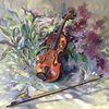 Vogel, Ölmalerei, Malerei, Frühling
