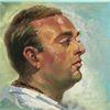 Malerei, Portrait, Gesicht, Mann
