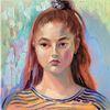 Malerei, Gesicht, Mädchen, Frau