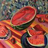 Rot, Stillleben, Licht, Wassermelone