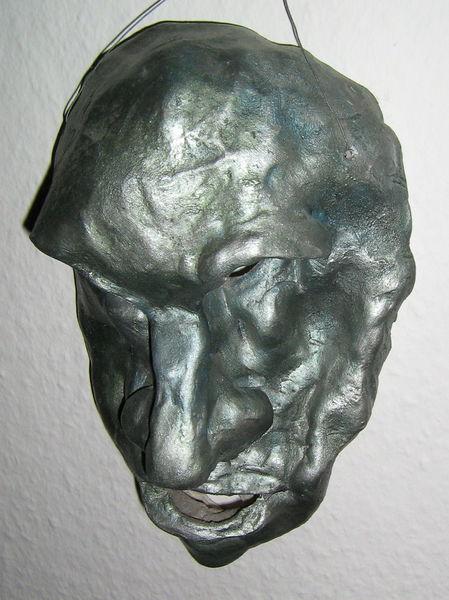 Figural, Gesicht, Ton, Relief, Plastik, Ende