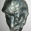 Figural, Gesicht, Ton, Relief