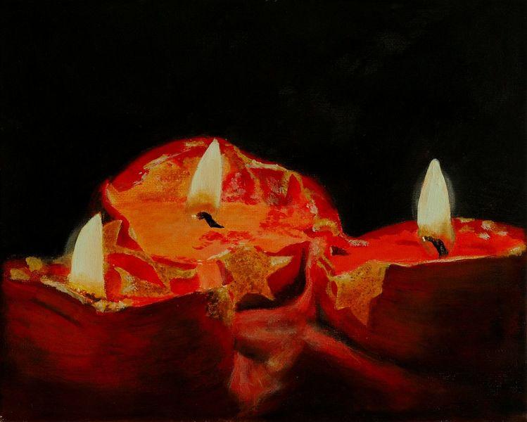 Kerzen, Stern, Flammen, Stillleben, Advent, Wachs