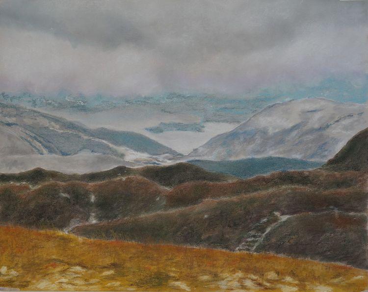 Landschaft, Natur, Berge, Hügel, Zeichnungen