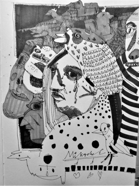 Alltag, Gesellschaft, Menschen, Zeichnungen
