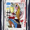 Bunt, Rahmen, Abstrakt, Frauenportrait