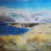 Pastellmalerei, Wolken, Grob, Cornwall