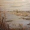 Moor, Landschaft, Winterzeit, Braun